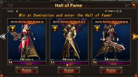 40. hall of fame praise - league of angels